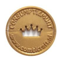 Consumptiemunten met kroon gat 1000 stuks