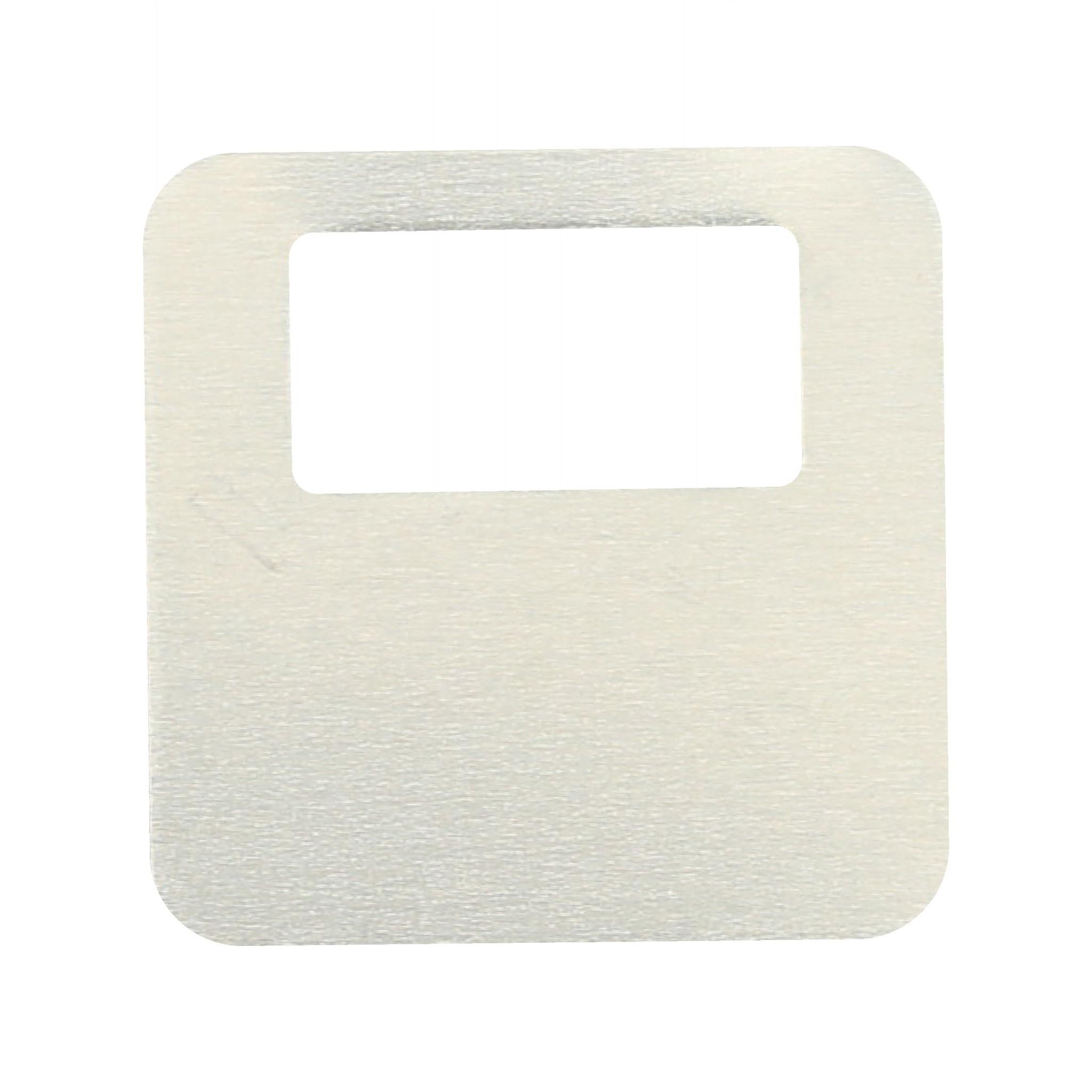 CombiCraft Zilverkleurige aluminium elox garderobemunten 35x35mm