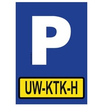 Parkeerplaats met jouw kenteken bord