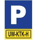 CombiCraft Bordje - Parkeerplaats met jouw kenteken