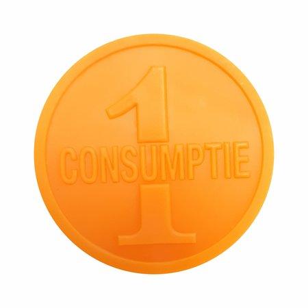 CombiCraft Consumptiemunten 1000 stuks Oranje 1-consumptie aan beide zijden