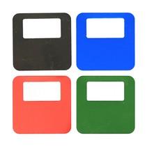 Gekleurd aluminium garderobenummer met jouw logo en nummers