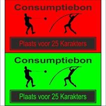 Consumptiebon 'Atletiek' met uw eigen tekst  op gekleurd papier