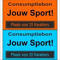 Consumptiebon 'andere sport' met uw eigen tekst  op gekleurd papier