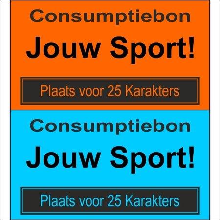 CombiCraft Consumptiebon 'andere sport' op gekleurd papier met uw eigen tekst - Prijs per 1000 stuks vanaf: