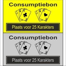 Consumptiebon Kaarten met eigen tekst
