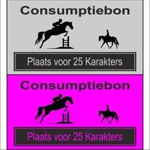 Consumptiebon 'Paardrijden' met uw eigen tekst  op gekleurd papier