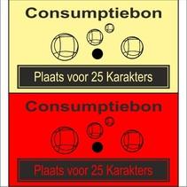 Consumptiebon 'Pétanque' met uw eigen tekst op gekleurd papier