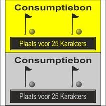 Consumptiebon 'Golfen' met uw eigen tekst  op gekleurd papier