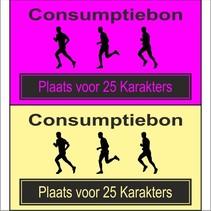 Consumptiebon 'Hardlopen' met uw eigen tekst  op gekleurd papier