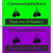 Consumptiebon 'Boksen' met uw eigen tekst  op gekleurd papier