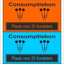 Consumptiebon 'Darten' met uw eigen tekst  op gekleurd papier