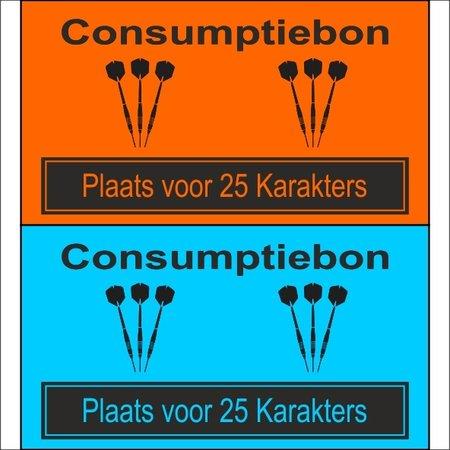 CombiCraft Consumptiebon 'Darten' op gekleurd papier met uw eigen tekst - Prijs per 1000 stuks vanaf: