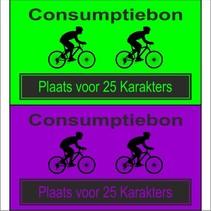 Consumptiebon 'Wielrennen' met uw eigen tekst  op gekleurd papier
