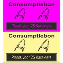Consumptiebon 'Vissen' met uw eigen tekst  op gekleurd papier