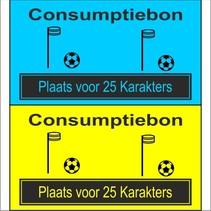 Consumptiebon 'Korfbal' met uw eigen tekst  op gekleurd papier