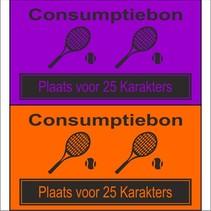 Consumptiebon 'Tennis' met uw eigen tekst  op gekleurd papier