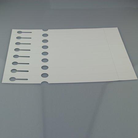 CombiCraft Sleufetiketten voor de Laserprinter, 200 stuks in 250x25mm met afscheurstrookje op A4-Vellen, 8 sleufetiketten per vel.