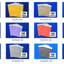 60 gekleurde blanco  polsbandjes origineel TYVEK®