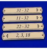 CombiCraft Messing retro graveerbord in 3 uitvoeringen met gravering volgens opgave