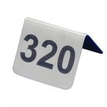 RVS tafelnummers naar wens genummerd
