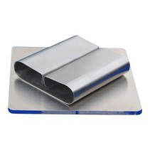 Zilverkleurige RVS Kaartklem blanco op voet