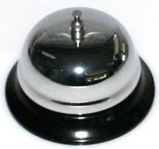 CombiCraft Verchroomde baliebel op metalen sokkel in Ø 60 of Ø 80mm
