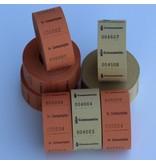 CombiCraft Consumptiebonnen op rol 1000 stuks met een eigen ontwerp en nummering 30x30mm