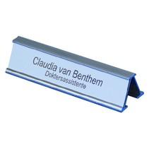 Tafelnaambord aluminium inclusief graveerstrook