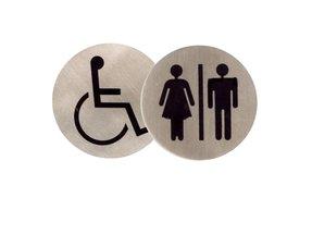 Symbool, sanitair en pictogrambordjes