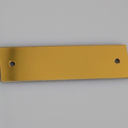 CombiCraft Nummerplaatjes Aluminium Gekleurd Rechthoek 1mm dik met 2 gaatjes