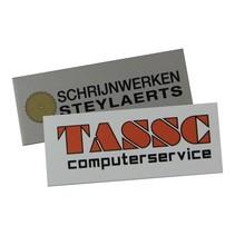 Logo  in vele kleuren op Aluminium