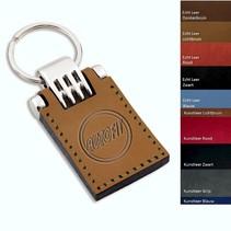 Leer sleutelhangers 32x85mm