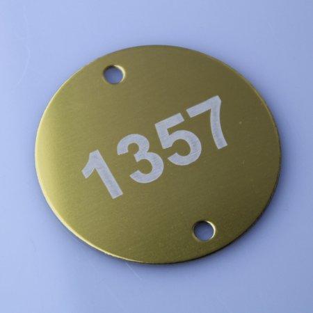 CombiCraft Nummerplaatje in rood, wit, zwart, groen, goud, wit of blauw Aluminium  Ø30 mm met 2 gaatjes