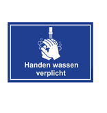 CombiCraft Bordje - Handen wassen verplicht 30x21cm