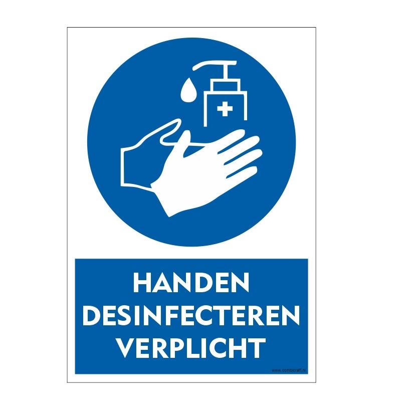 CombiCraft Bordje - handen desinfecteren verplicht