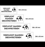 CombiCraft Tafelbordje - Acrylaat Verplicht handen desinfecteren