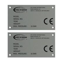 Aluminium industrieplaatje - Typeplaatje