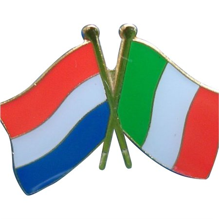 CombiCraft Vriendschapspin Nederland - Italië met vlindersluiting