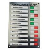CombiCraft Acrylaat Aanwezigheidsbord - Afwezigheidsbord - Presentiebord voor 10 personen