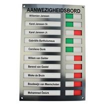 Aanwezigheidsbord - Afwezigheidsbord voor 10 personen