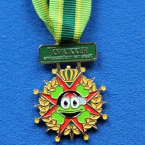 Gegoten medaille met inkleuring