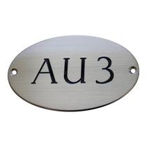 Aluminium deurbordjes ovaal