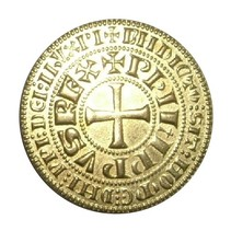 Gegoten munten onedel verguld goud