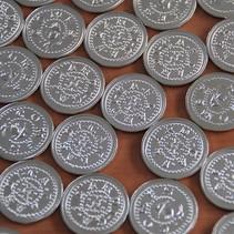 Metalen slagmunt in €0,50 afwijkende dikte