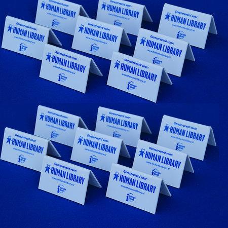 CombiCraft Voorbeeld van een budget dakbordjes polystyreen voor de Human Library