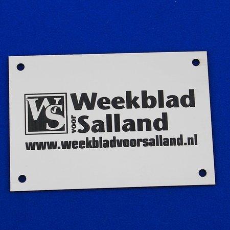 CombiCraft Voorbeeld van een buitenbordje voor Weekblad Salland