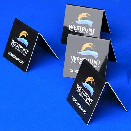 CombiCraft Voorbeeld van dakbordjes acrylaat met een vinyl overtrek voor Westpunt