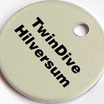 Sleutellabels aluminium TwinDive Hilversum