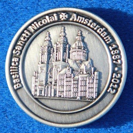 CombiCraft Voorbeeld van een gegoten herdenkingsmunt voor de Baseliek Amsterdam